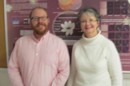 National Academies Education Fellows in the Life Sciences Zack Lewis and Anna Karls